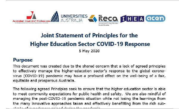 Higher-Education Sector Response to COVID-19